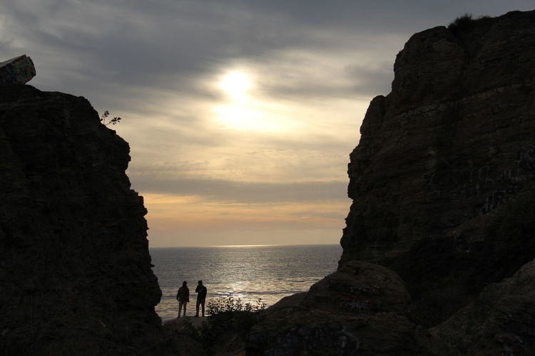 Sunset in Sunken City Sillhouttes And Sky Silhouette And Sunshine Silhouettes Of People California Coast California Coast California Sunset Sea Water Beach Sunset Cliff Silhouette Rock - Object Rock Formation Sky Horizon Over Water Romantic Sky Rocky Coastline Seascape California Dreamin Dramatic Sky