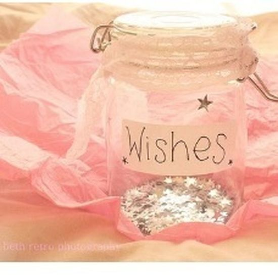 My wishes are all saved up in a bottle:D