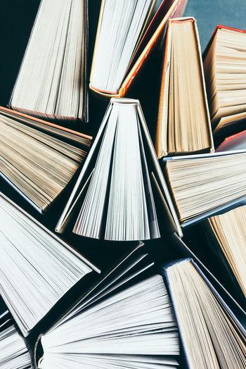 Full frame shot of books