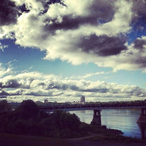 Осеннее небо Russia Kemerovo Autumn Sky beautiful view on bridge