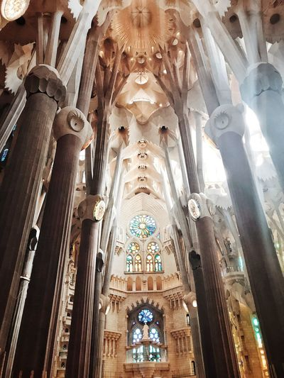 Ceiling Architecture Built Structure Travel Destinations Gaudi Gaudì Architecture Work Gaudi Barcelona Gaudí Sagrada Familia amazing!