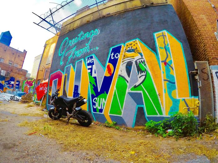 Throwback to when I had a Grom Honda Grom Life Explore Duval  904pov Action Photography Gopro Wet Paint Mural Hunting Outdoors Lifestyle EyeEmNewHere