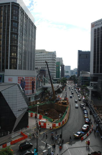 Kuala Lumpur Malaysia  Architecture Building Exterior City Cityscape Contruction Zone Day Modern No People Outdoors Road Street