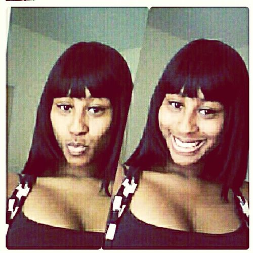 people said i favored nicki m. in this photo..what yall think? because i think it was only because of the bang..lmao