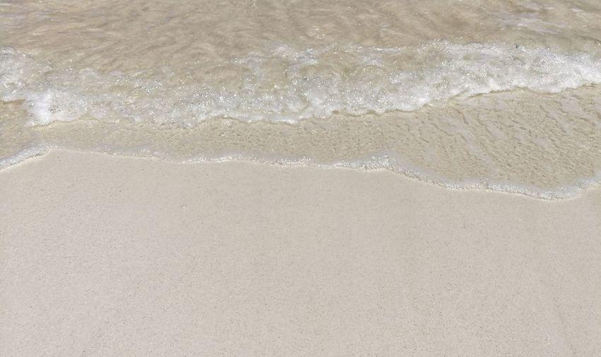 High angle view of sandy beach