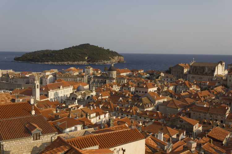 Dubrovnik Dubrovnik, Croatia Croatia Outdoors Lokrum  Lokrum Island Island Cityscape Top View View From The Top Architecture Built Structure Building Exterior Building Roof Water Sea City Horizon Residential District Sky Horizon Over Water Nature High Angle View No People Town House Clear Sky TOWNSCAPE