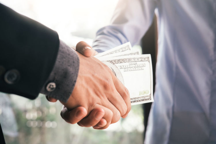 Bribe Business Crime Agreement Bribery Business Businessman Communication Contact Corruption Deal Dirty Financial Handshake Honest Illegal Money Occupation Receiving Remuneration Wage