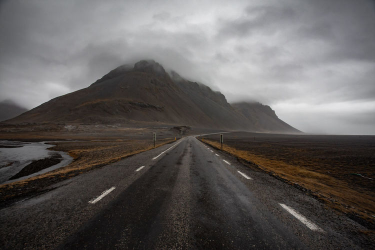 Rock Moody Sky Landscape_Collection Landscape Nature Iceland Memories Iceland_collection Iceland Road Mountain Cloud - Sky No People Tranquil Scene Scenics - Nature Empty Road Mountain Range Tranquility Mountain Peak Outdoors Beauty In Nature