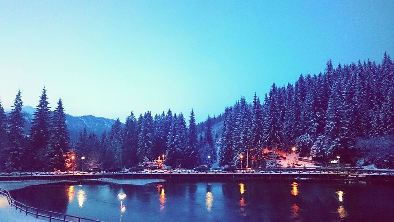Pinklights Evening Light Water Winter Trees Mountain View Skiing ❄ Freedom Nature Wintertime Beautiful Day Mistery Fullmoon Calmness Mountain_collection ...