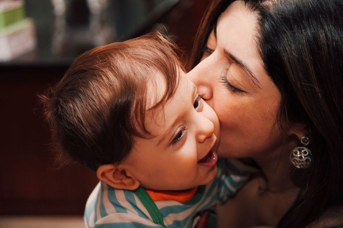 RePicture Leadership Love Moments Enjoying Life Portrait Everyday Joy Mother Mother And Son Child Laugh Joy Kiss