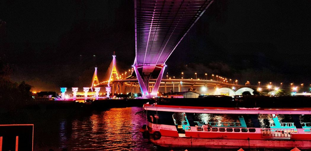 City Illuminated Water Cityscape Multi Colored Arts Culture And Entertainment Bridge - Man Made Structure Sky Architecture Built Structure