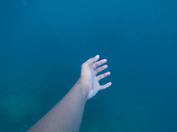 Cropped image of hand in water