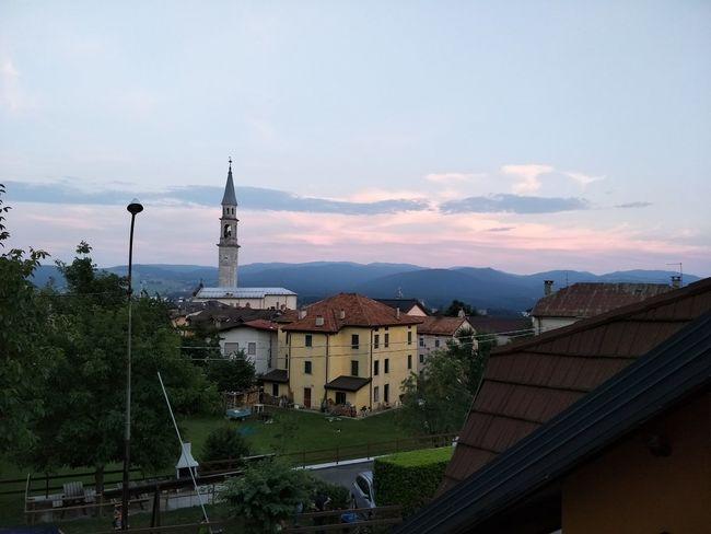 Paesaggio Roana Italia Vicenza Italy Panorama Tramonto Twilight
