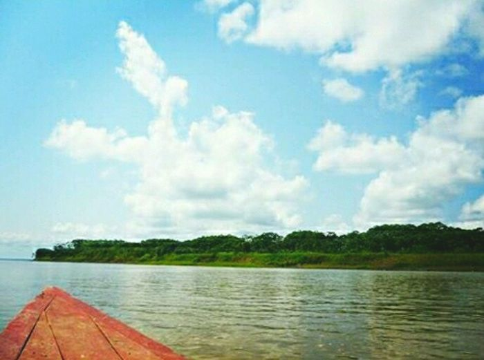 Cloud - Sky Vacations Sky Iquitos, Perú Water Tranquil Scene Tranquility Sky Scenics Beauty In Nature Nature Day Cloud Cloud - Sky Blue Vacations Non-urban Scene Calm Outdoors Tourism No People Sea Solitude Coastline First Eyeem Photo