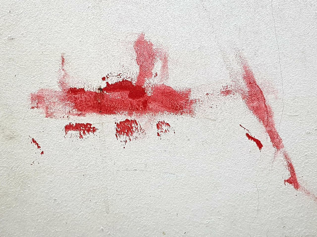 red, wall - building feature, paint, handprint, built structure, blood, no people, architecture, art and craft, stained, fingerprint, splattered, white color, close-up, day, textured, building exterior, creativity, crime, messy, aggression, concrete