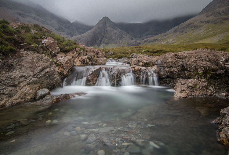 Fairy Pools Long Exposure Shot Scotland Clear Water Highlands Long Exposure Mountain Range Mountains River Scotlandsbeauty Water Waterfall