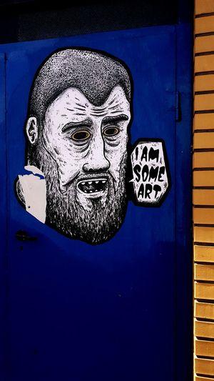 Close-up Blue People Street Street Art/Graffiti Poznań Graffiti Art Is Everywhere