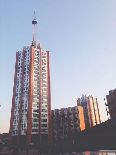 Tower Sky Skycraper Leuven High City IPhone 5C
