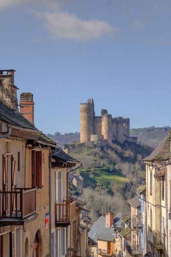 Chateau de najac at aveyron against sky