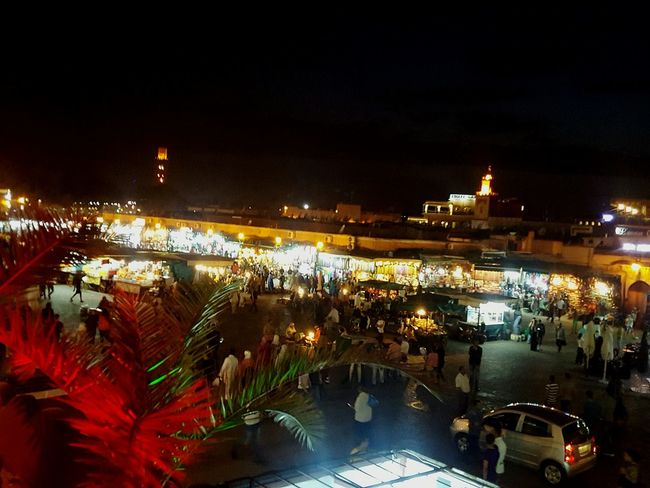 Morocco Marrakech Night Time Street Photography City Lights At Night Market Square Cities At Night