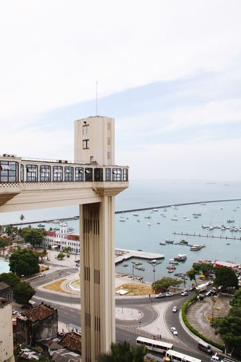 Salvador Brazil Bahia Pelourinho Elevador Lacerda Sky Architecture Built Structure Water Building Exterior Sea City Day No People Beach Cloud - Sky Horizon