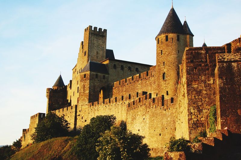 History Architecture Building Exterior Low Angle View The Past Built Structure Ancient Castle No People Day Sky Travel Destinations Outdoors Tree Ancient Civilization Carcassonne Carcassone, France Castles Twilight