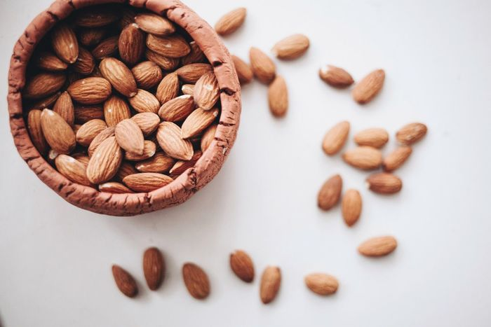 Healthy Eating Nuts Nut Snacking Snack Time! Almond Food And Drink Brown Food Large Group Of Objects No People Freshness Healthy Eating Nut - Food White Background Indoors  Day Close-up