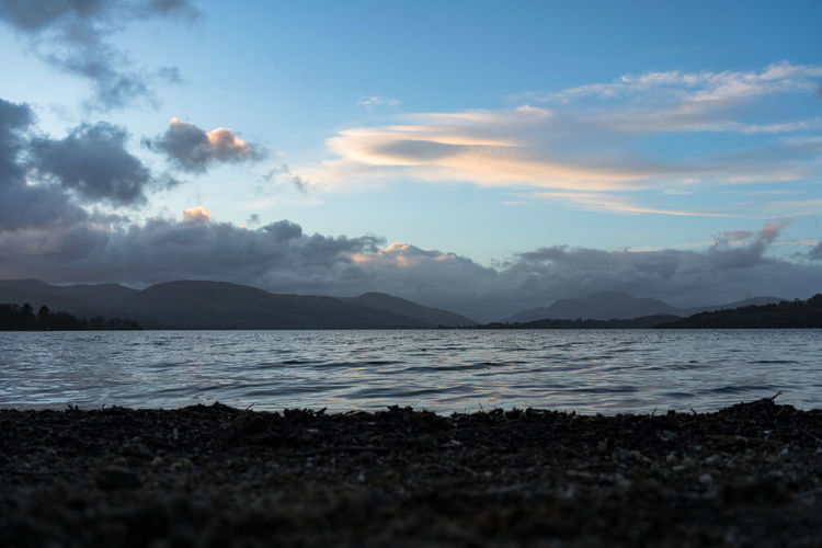 Loch Lomond Scotland Sky Water Scenics - Nature Tranquility Beauty In Nature Tranquil Scene Cloud - Sky Mountain Land Nature Sea Beach No People Non-urban Scene Idyllic Sunset Environment Outdoors
