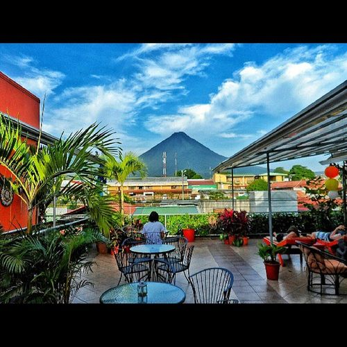 Lets just all take a moment to appreciate how amazing of a view this was. Costarica Fortuna Hotelview