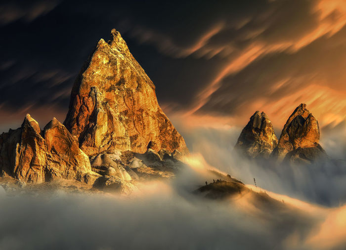 Mountain Landscape Rock Beauty In Nature Cloud - Sky Rock - Object Rock Formation Scenics - Nature Sky Mountain Idyllic Tranquil Scene Outdoors Mountain Peak Environment Nature Sunset Berge Berglandschaft Alpes Alpen Fog Mist Foggy Misty Valley Top View Eyemphotography EyeEm Best Shots EyeEm Nature Lover Sonne Clouds And Sky Nebel Nebelmeer Nebelschwaden Taking Photos Dream Hike Hiking Hikingadventures Golden Hour Beautiful Landscape Sunny Cloudy Sky Colorful Nature Landscape_photography No People Geology Formation Non-urban Scene Tranquility My Best Photo