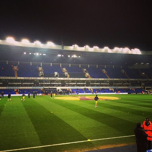 Going to be a cold one at Spurs tonight THFC_Live