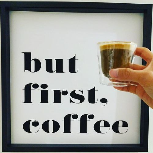 Hands down, THE BEST picture on the wall. Thanks to my wife... Canvas Canvasart Coffeetime Coffee Latteart Latte Espresso Keepcup Cappuccino Cat Cartooncat CappuccinoCoffee Shot Coffeebean Coffeeshot Coffeeshots Espressohouse Espressoshot Espressoshots