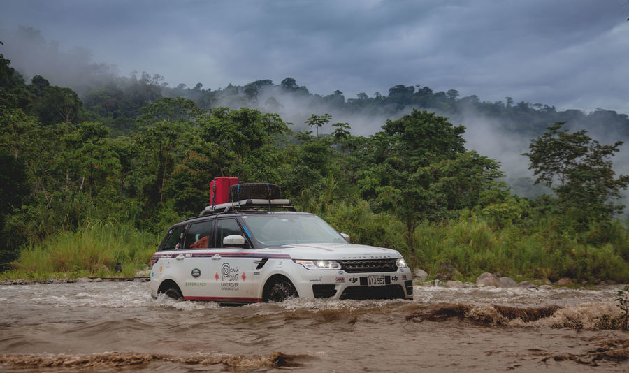 Expedition Land Rover Adventure Car Cloud - Sky Crossing Jungle Land Vehicle Nature Overland Overlanding River Rivercrossing Storm Watercrossing Summer Road Tripping The Traveler - 2018 EyeEm Awards