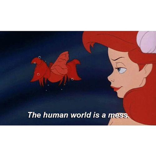 Human World Mess The Little Mermaid