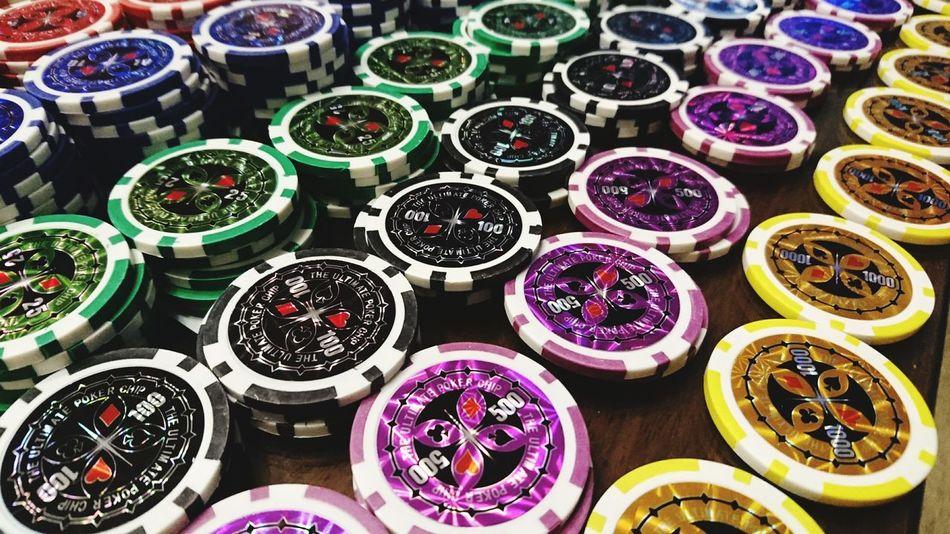 First Eyeem Photo Jeton Roulette Multi Colored Mehrfarbig Farbenfroh Diferent Colours Poker Time Pokerchips Poker Night Poker Chips Coin Coins Bet Blinds Blind