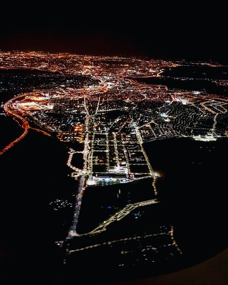 Aerial view of London at night. Black Background Illuminated No People London United Kingdom Plane Window Travel Photography EyeEmNewHere Cityscape From Above City Lights City View