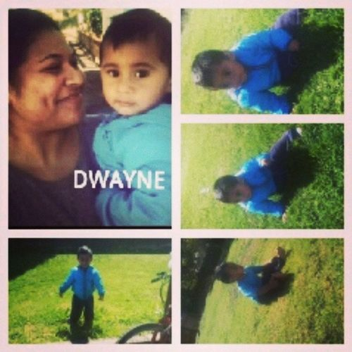 I was the first to know about this little guy coming into this world, and the last to meet him .... til' today when I spent the whole day with him~ Such a sweetheart ... <3 <3 Dwayne Cutestever  Seeyouagainhoney <3