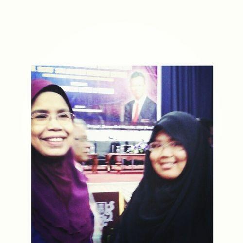 With Raktor UitmPerak Prof Ir Hajah Zainab ^^ during Bual Bicara Bersama Menteri YB Dato Sri Shabery Chik