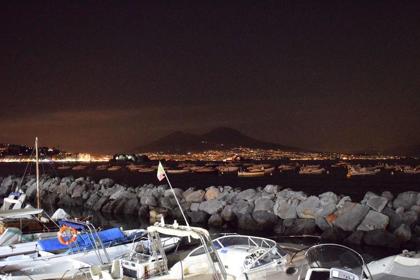 Beauty In Nature Boats⛵️ Mergellina, Naples Mountain Sea Sea And Sky Sky Vesuvio