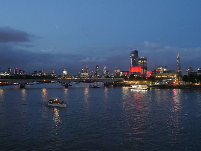 London at night Architecture Building Exterior Built Structure City Cityscape Cloud - Sky Commercial Dock Illuminated Industry Nature Nautical Vessel Night No People Outdoors Reflection River Shipyard Sky Skyscraper Urban Skyline Water Waterfront