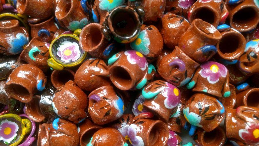 Little ceramic toys Handcraft Art Artisan Authentic Bowl Bowlpattern Culture Decorate Decoration Ethnic EyeEmNewHere Handicraft Handmade Indigenous  Kitchen Multicolor Native Pottery Souvenir