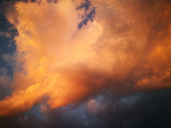 Cloud - Sky Sky Orange Color Beauty In Nature Nature No People Dramatic Sky Scenics - Nature Backgrounds Sunset Smoke - Physical Structure Cloudscape Environment Abstract Tranquility Red Vibrant Color Multi Colored Idyllic Outdoors