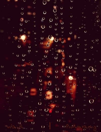 My Photography : picture taken From The Window ... Raindrops Rainy Day