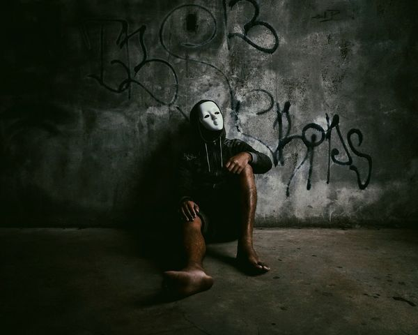 Eyeem Philippines The Portraitist - 2017 EyeEm Awards Mobile Photography Philippines CapturedByZ3N Masked Portrait Halloween People Creepy Portrait Masked Man Mystery Masked Adult One Person One Man Only Adult Dirty Indoors  Adults Only