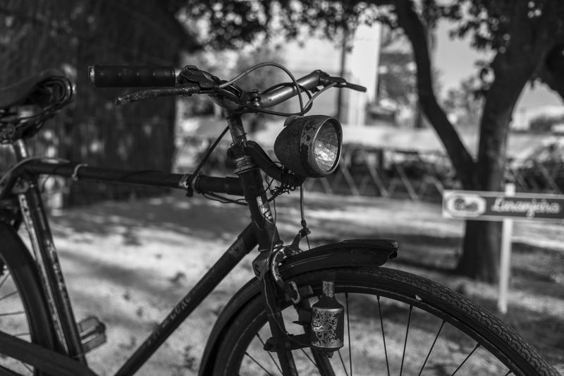 The old bike Bicycle No People Mode Of Transportation Metal Outdoors Close-up Wheel Land Vehicle Transportation