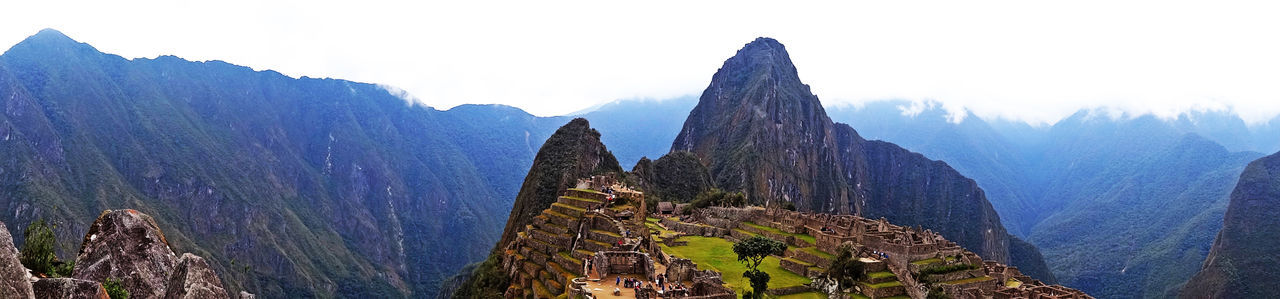 Ancient Civilization Ancient Ruins Beauty In Nature Landscape Macchu Picchu Mountain Mountain Peak Mountain Range Nature Outdoors Panoramic Peru Scenics Travel Travel Destinations