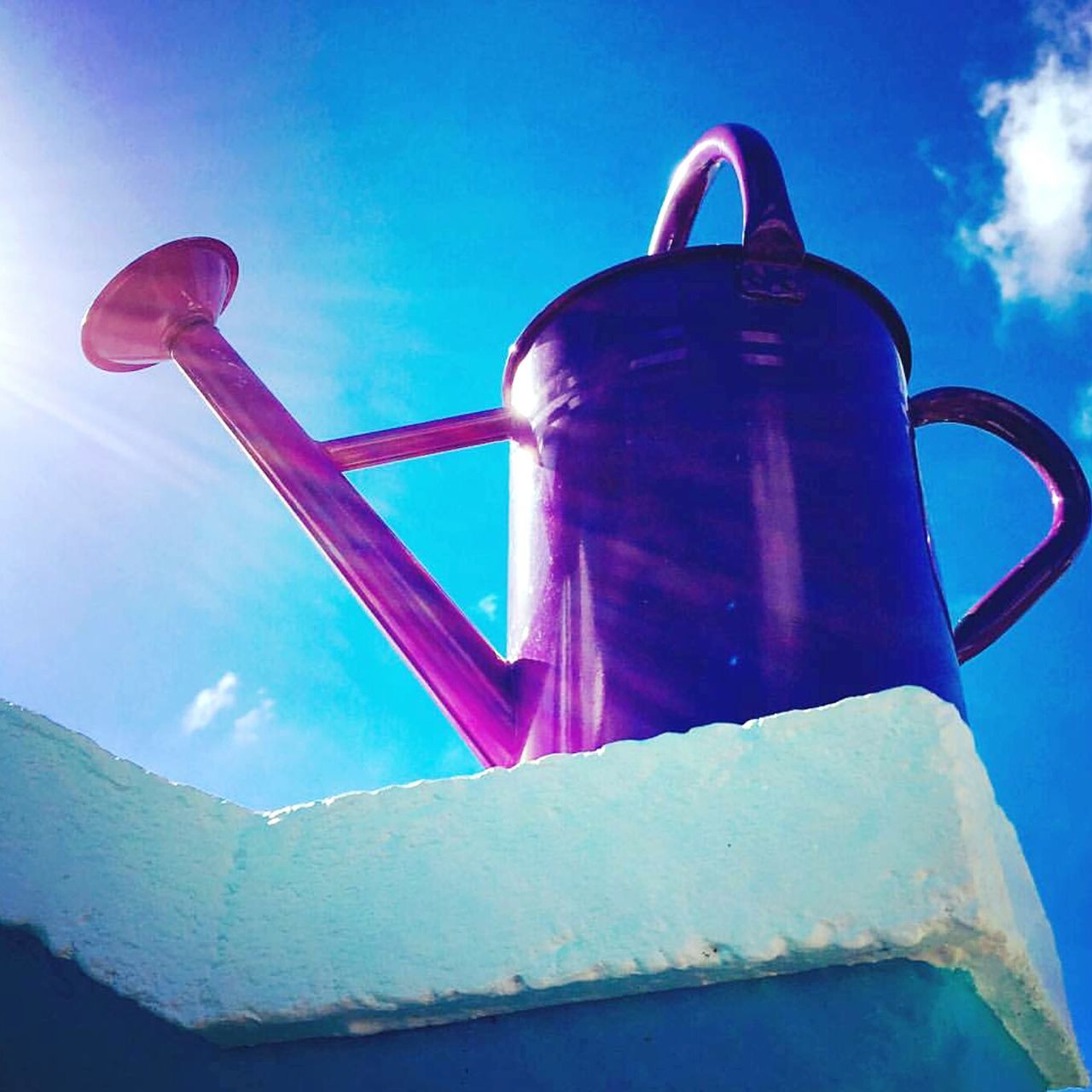 drink, no people, blue, food and drink, refreshment, water, sky, close-up, outdoors, day