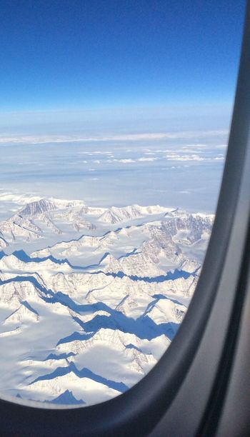 Winter Snow Cold Temperature Beauty In Nature Scenics Nature Weather Tranquil Scene Landscape Aerial View Airplane Tranquility Travel No People Transportation Mountain Snowcapped Mountain Air Vehicle Sky Day Arctic Circle Arctic Airplaneview Greenland Outdoors