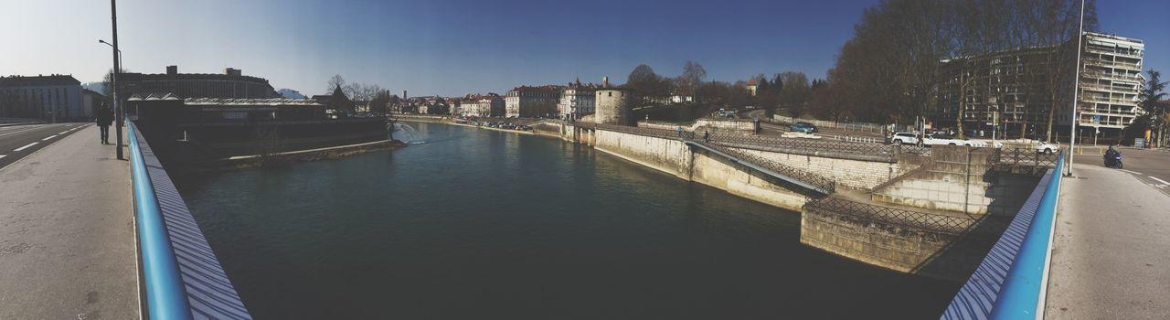 Quai Vauban. Vauban Sunny Day Architecture Bridge River Landscape Panoramic Panorama