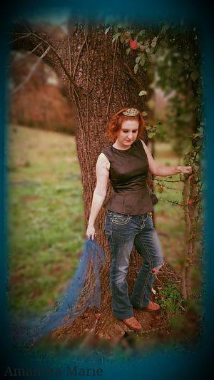 Nature Fairytale  Story Princess Tiara Blue Woods Sash  Fairytales & Dreams Girl Happy Outdoors Majestic Portrait Of A Woman Fashion
